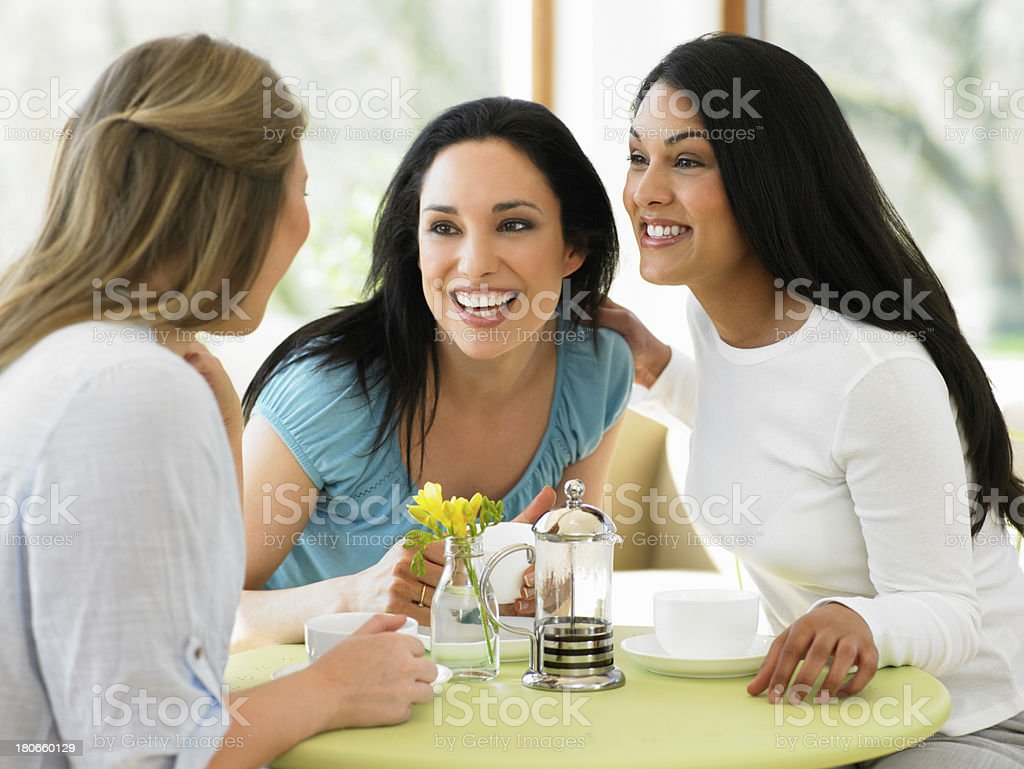 Group Of Women Meeting In Cafe royalty-free stock photo