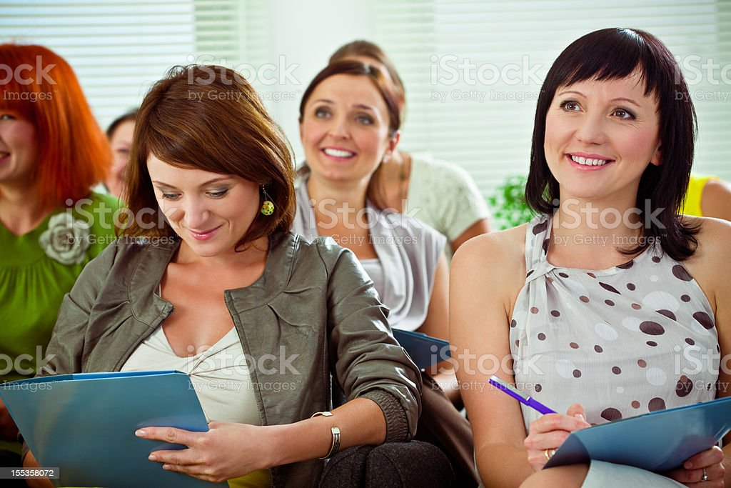 Group of women on a seminar royalty-free stock photo