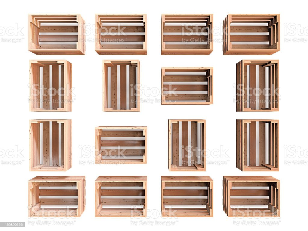 Group of Wooden Crates stock photo