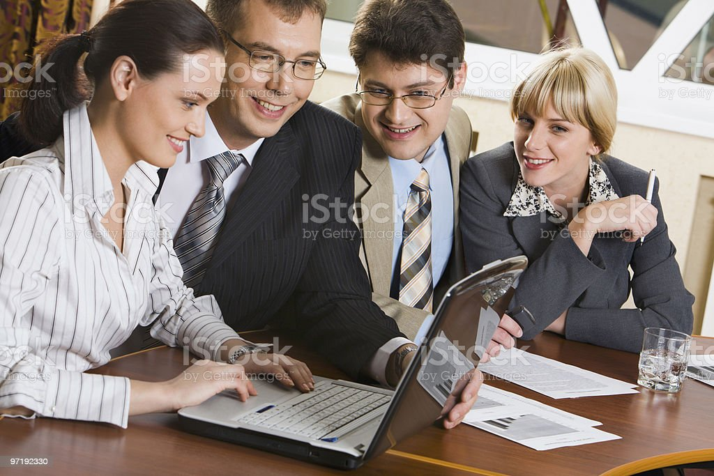 Group of workers royalty-free stock photo