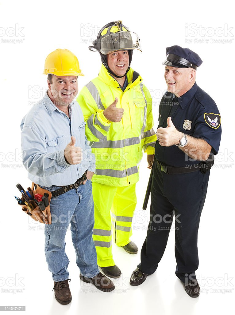 Group of Workers - Thumbsup stock photo
