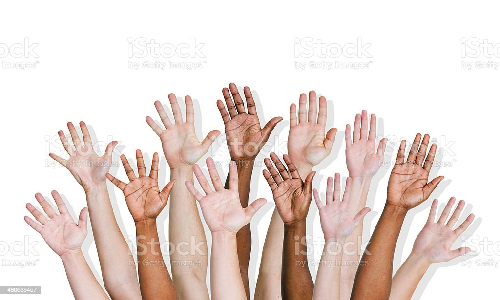 Group of World People's Hands royalty-free stock photo