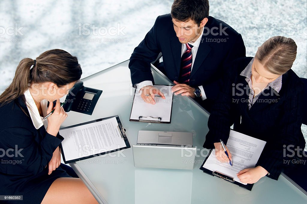 Group of young businesspeople stock photo