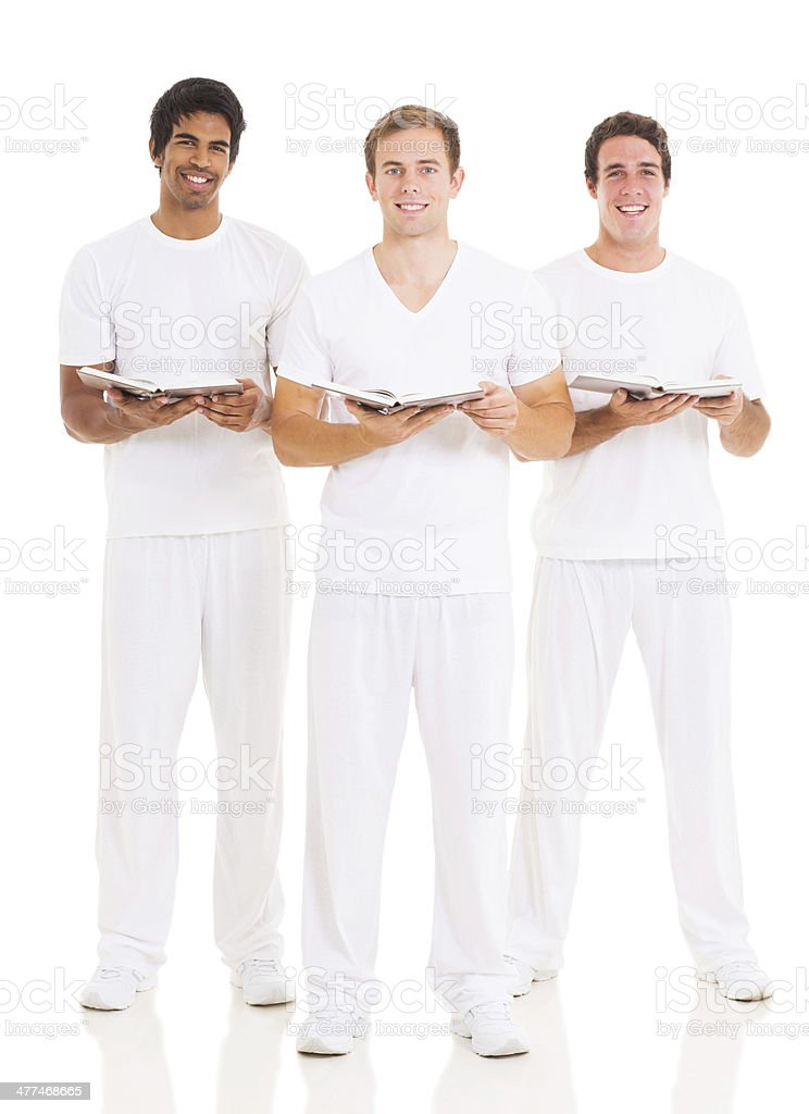 group of young church choir singers stock photo