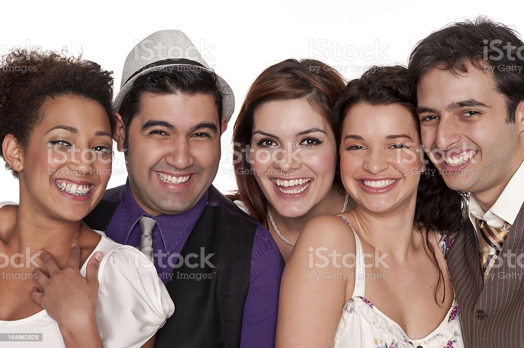 Group of young co-workers stock photo