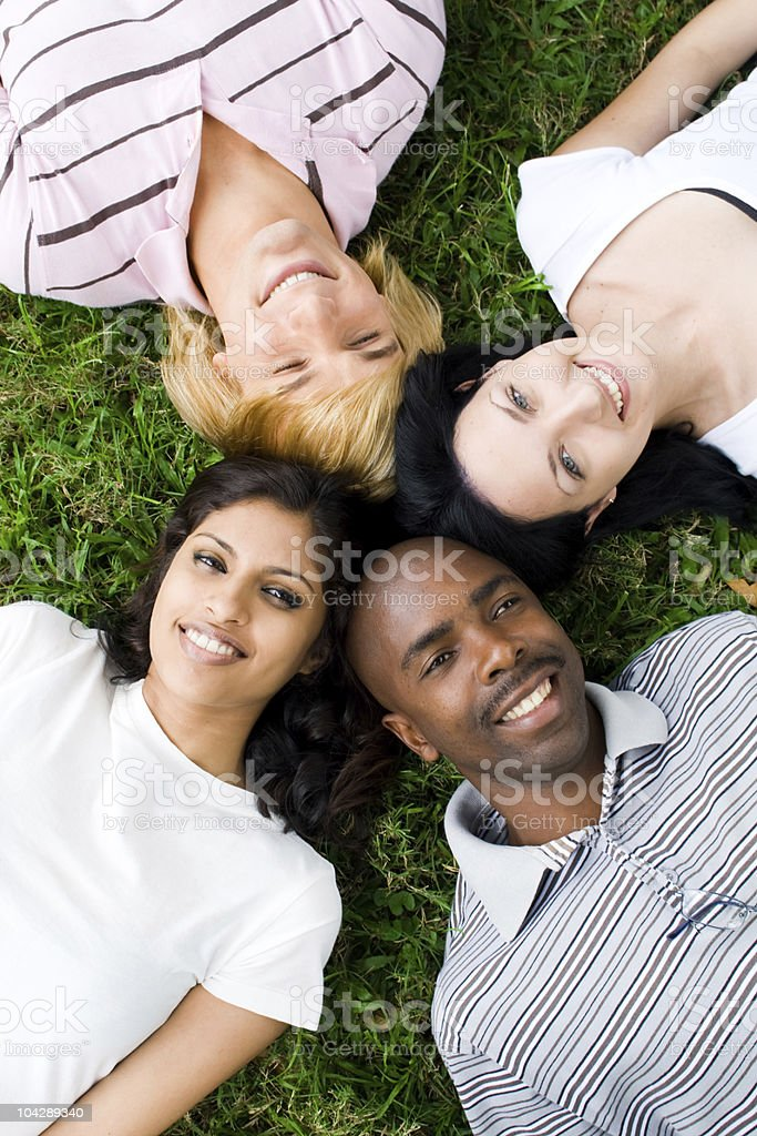 group of young diversity people royalty-free stock photo
