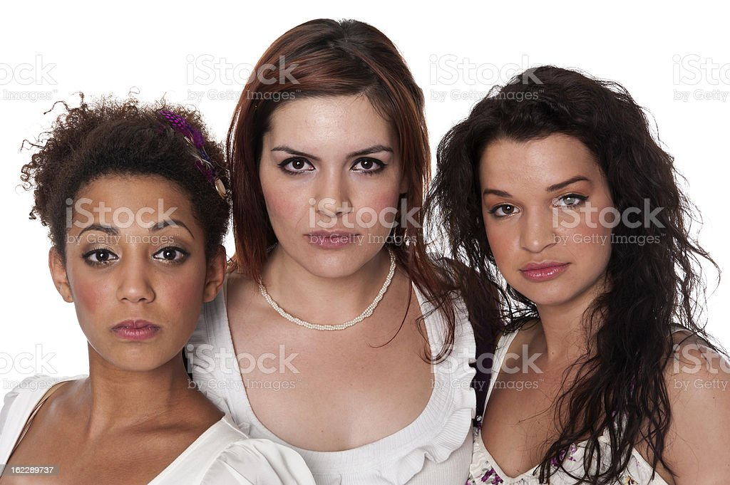 Group of young female co-workers stock photo