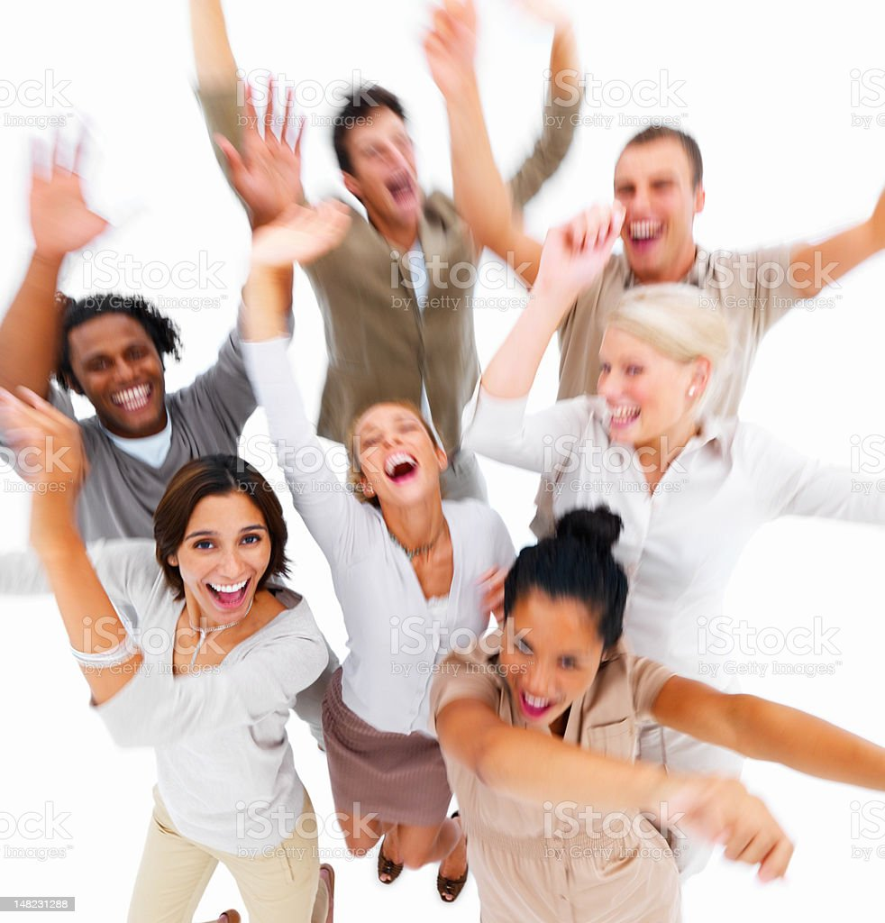 Group of young friends having fun stock photo