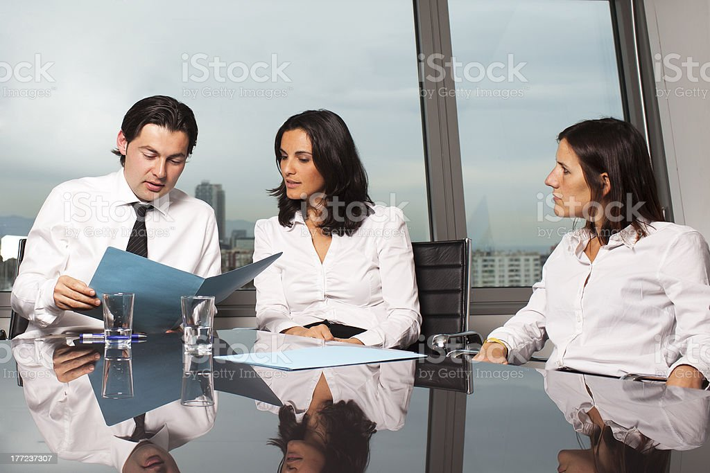 Group of young lawyers royalty-free stock photo