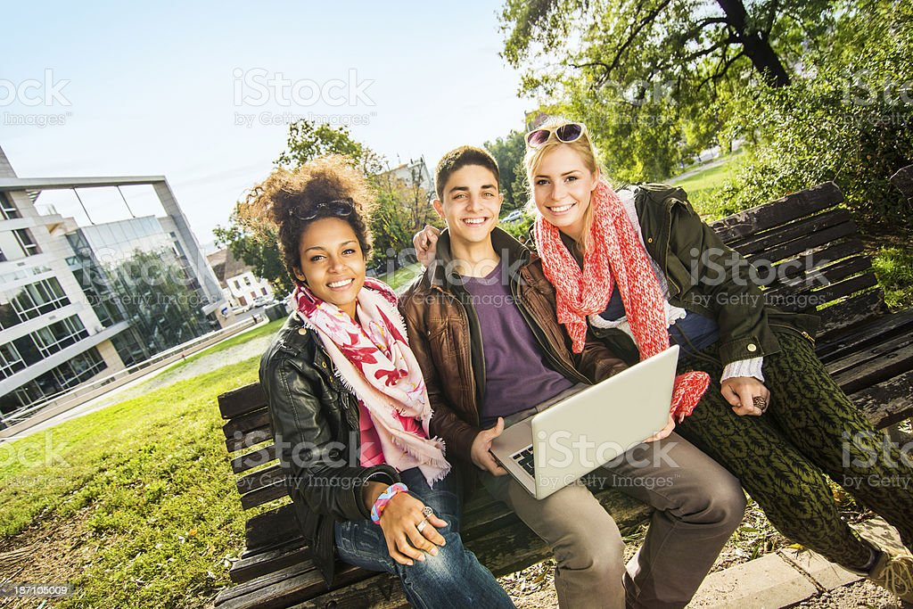 Group of young modern people royalty-free stock photo