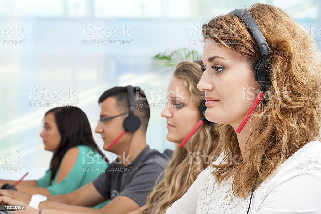 Group of young office workers. stock photo