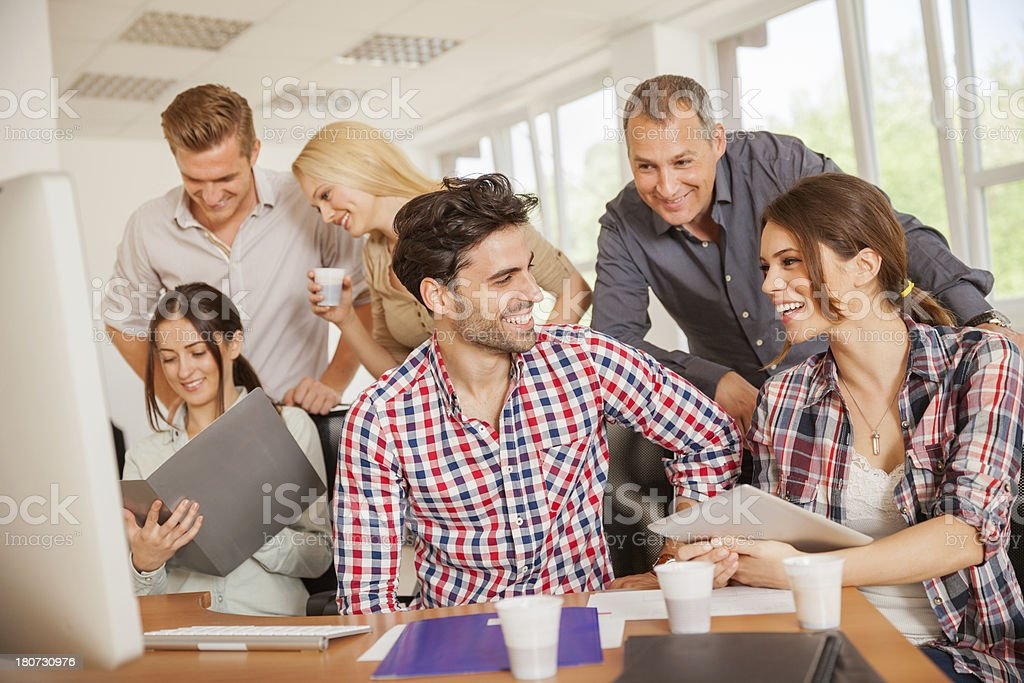 Group of young people at work royalty-free stock photo
