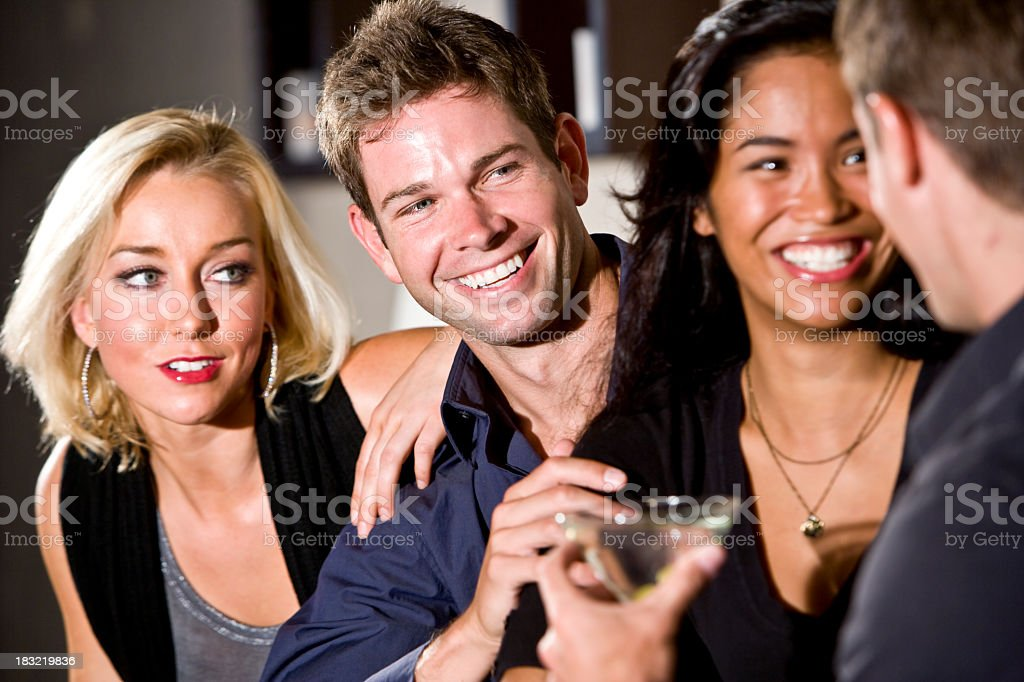 Group of young people chatting royalty-free stock photo