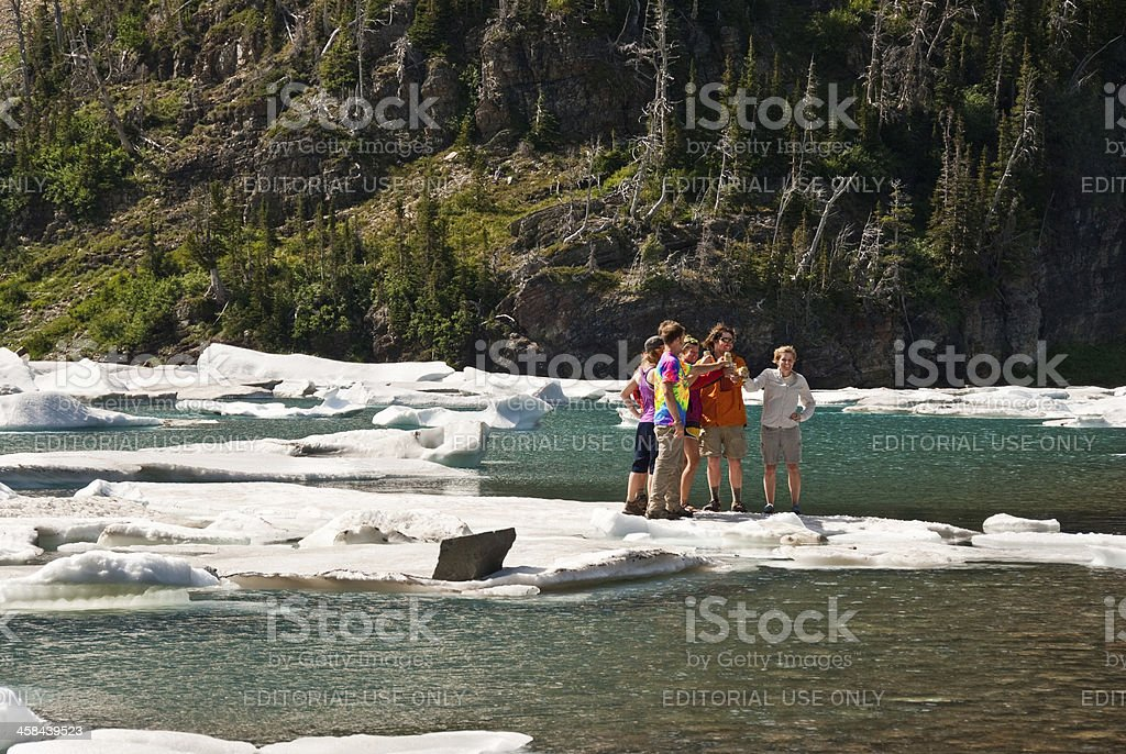 Standing on an Iceberg royalty-free stock photo