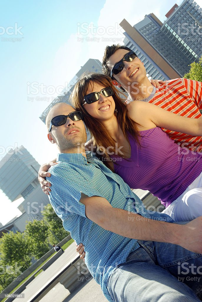 Group of Young People in City royalty-free stock photo