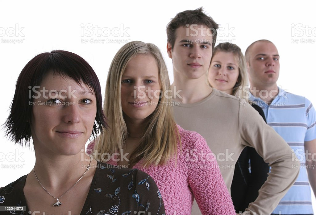Group of young people royalty-free stock photo