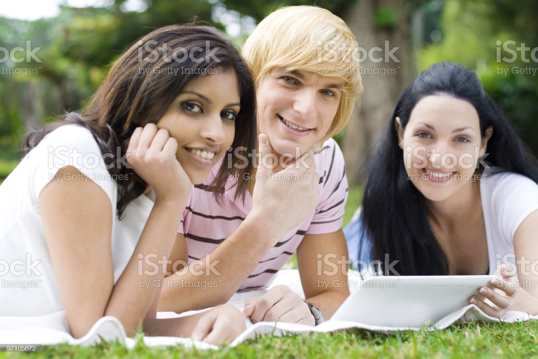 group of young university students in campus royalty-free stock photo