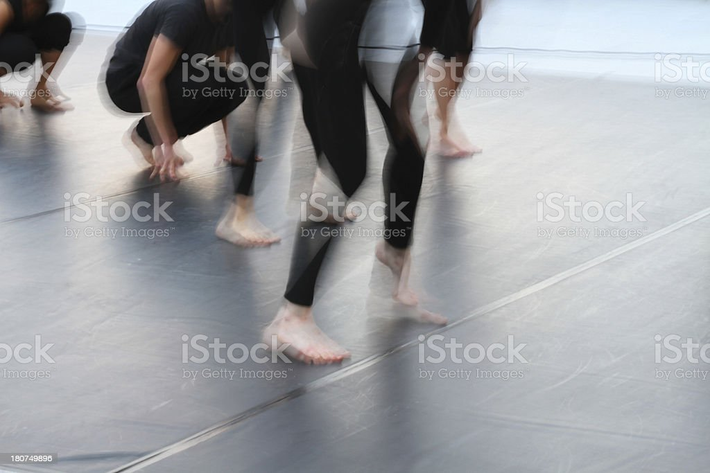 group of young women dancing blurred stock photo