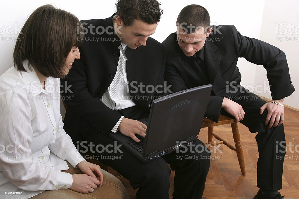 Group on computer royalty-free stock photo