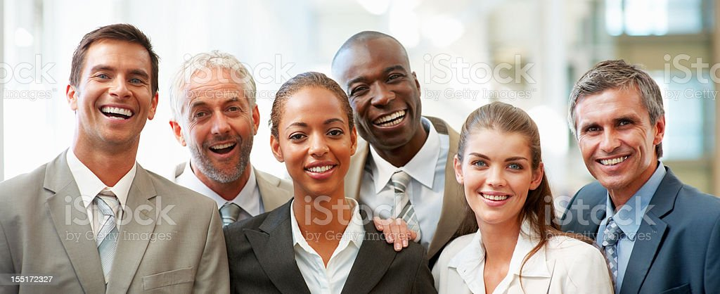 Group photo of successful business colleagues royalty-free stock photo