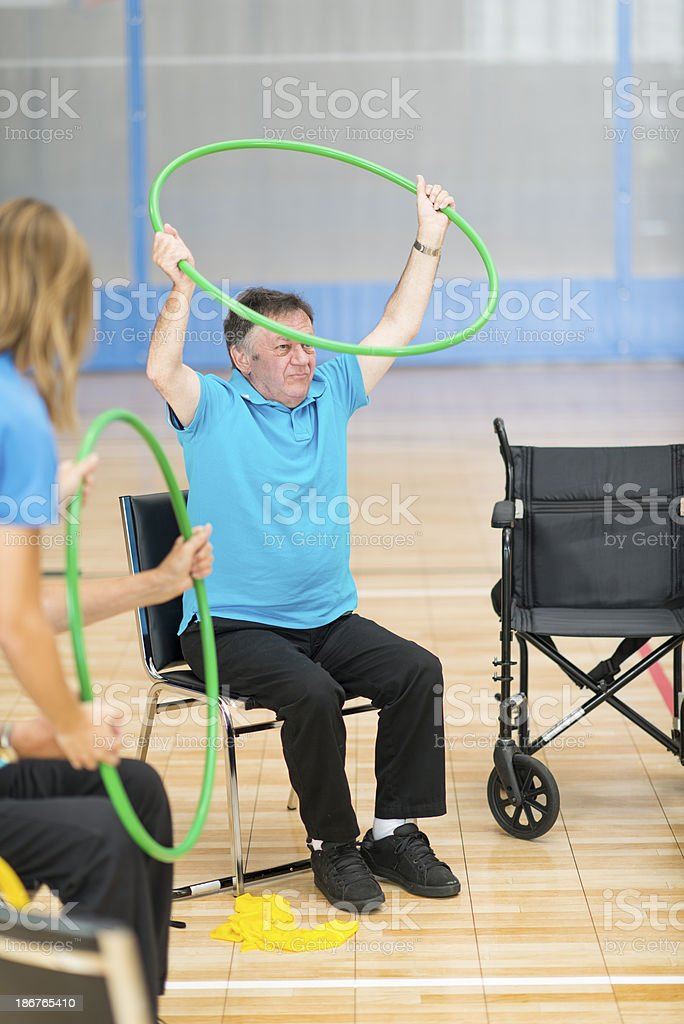 Group Physical Therapy royalty-free stock photo
