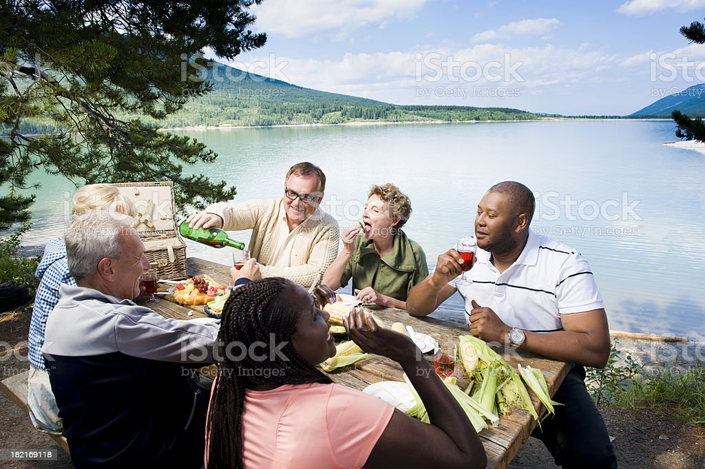 Group Picnic stock photo