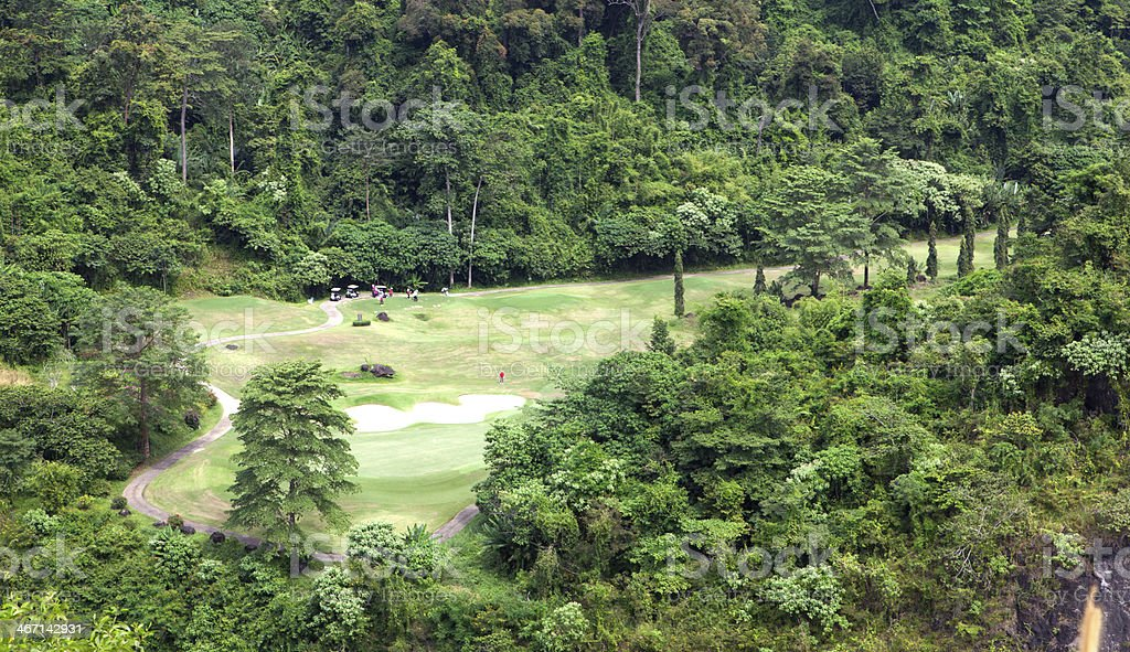 group playing golf royalty-free stock photo