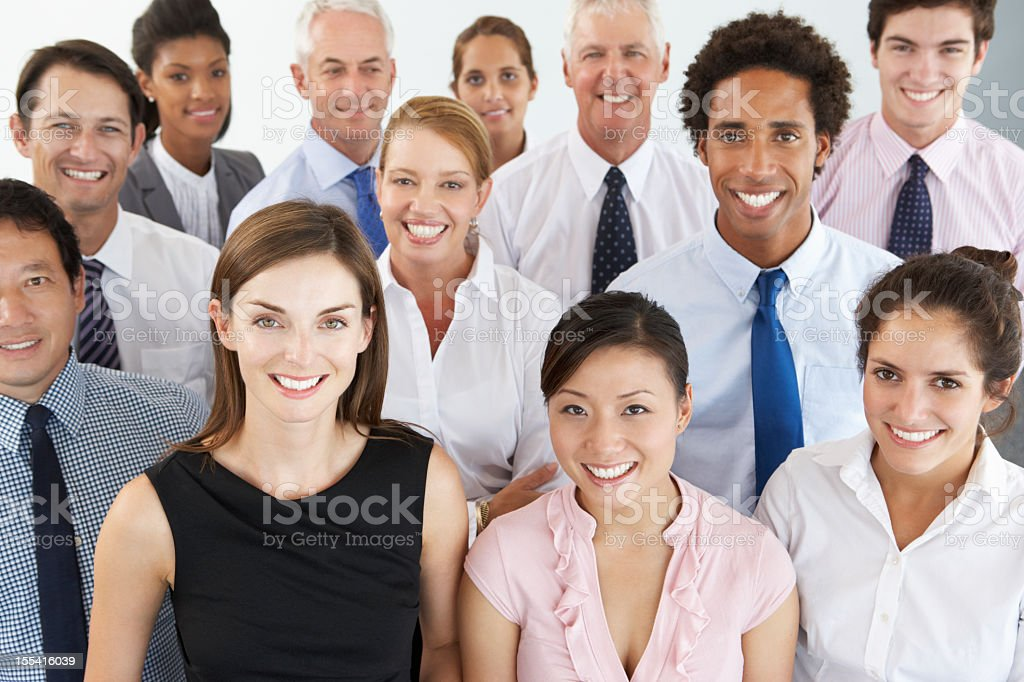 A group portrait of a multi-ethnic business people royalty-free stock photo