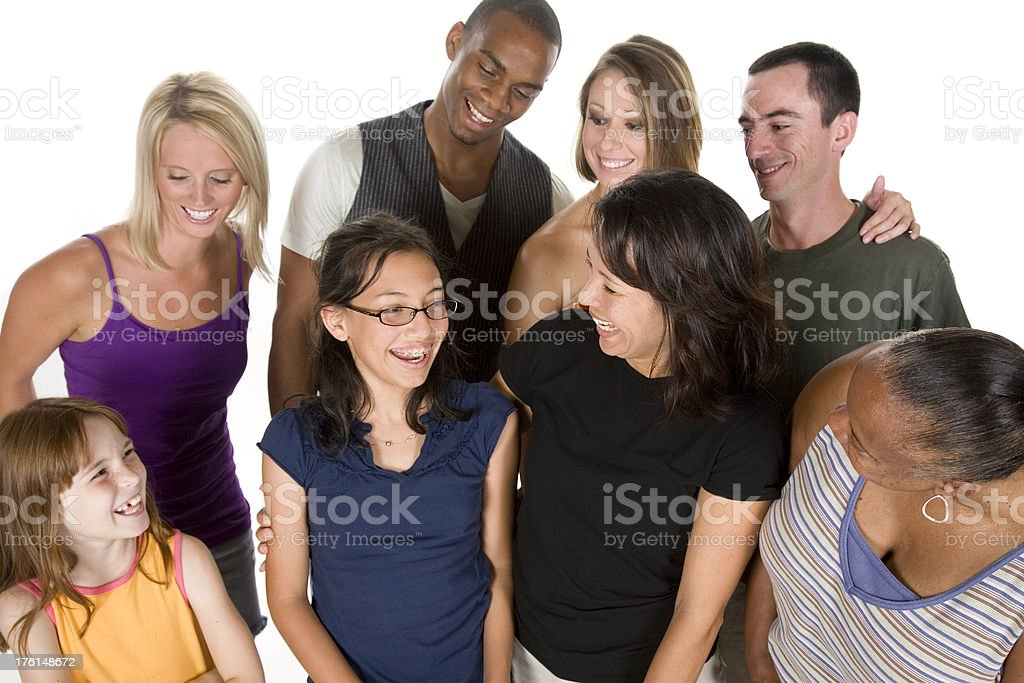 Group Proud of Young Girl royalty-free stock photo