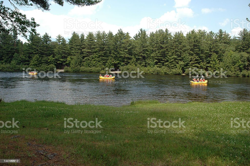 Group River Rafting royalty-free stock photo