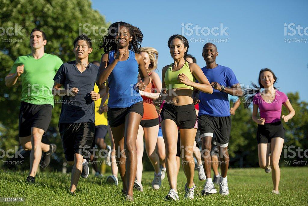 Group run stock photo