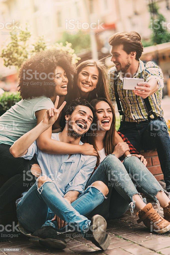 Group Selfie stock photo