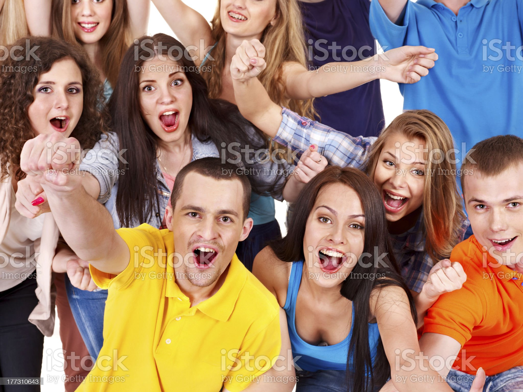 Group sport fan cheer for. royalty-free stock photo