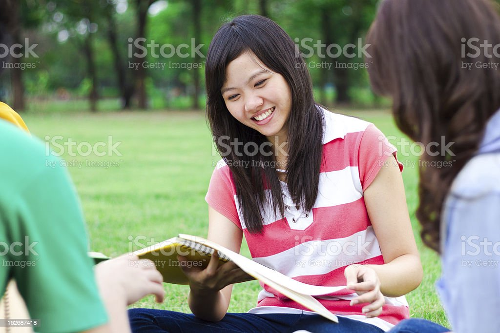 Group Study royalty-free stock photo