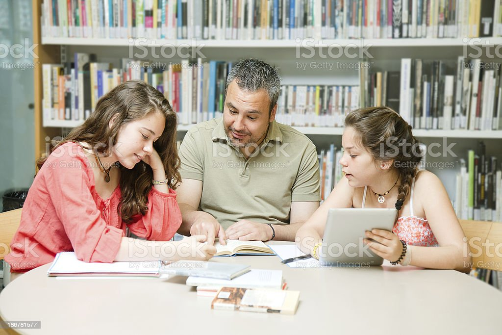Group studying royalty-free stock photo
