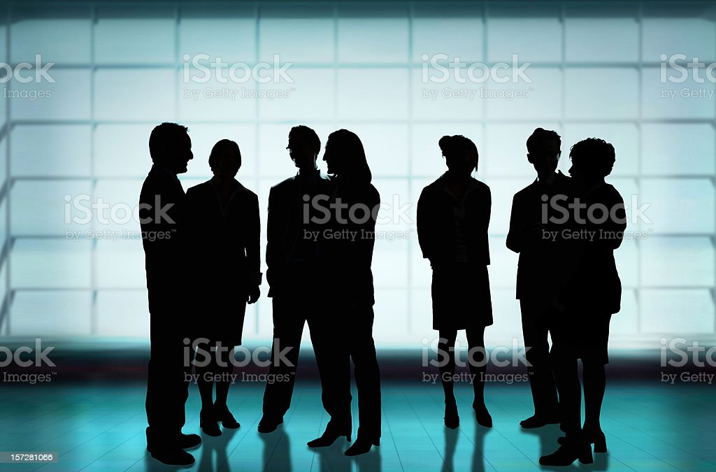 Group talking in silhouette royalty-free stock photo