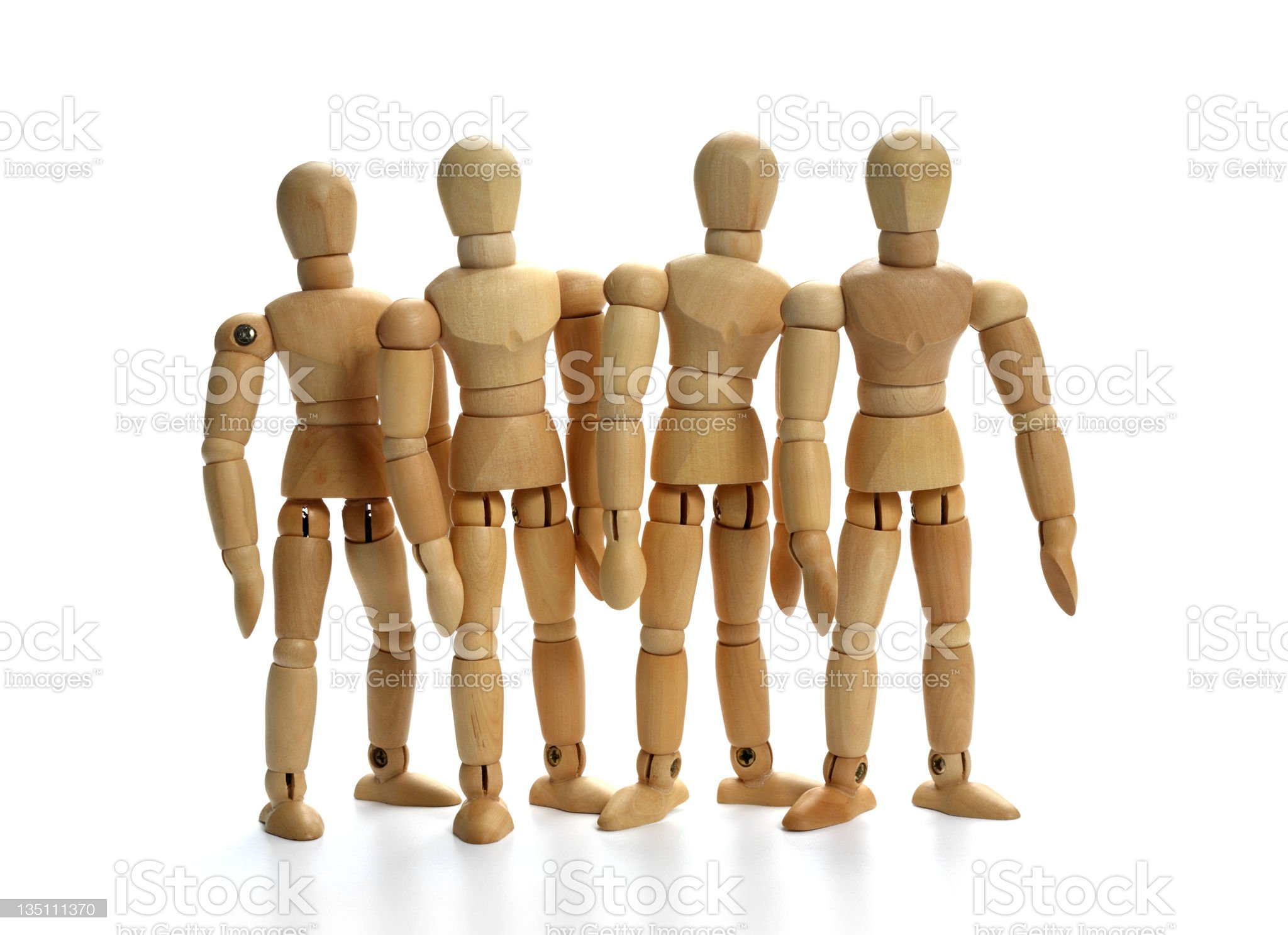 Group - Team (serie of images) royalty-free stock photo