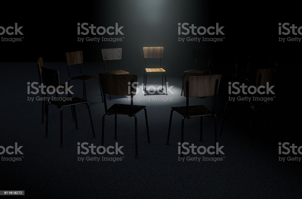 Group Therapy Chairs stock photo