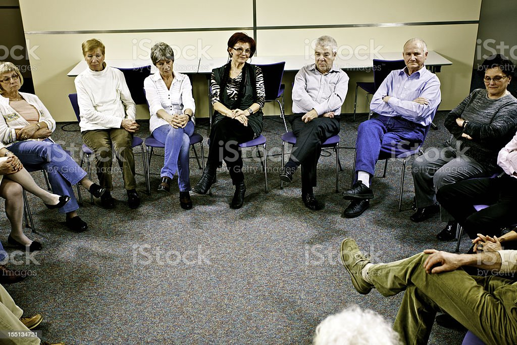 Group therapy in the community center royalty-free stock photo