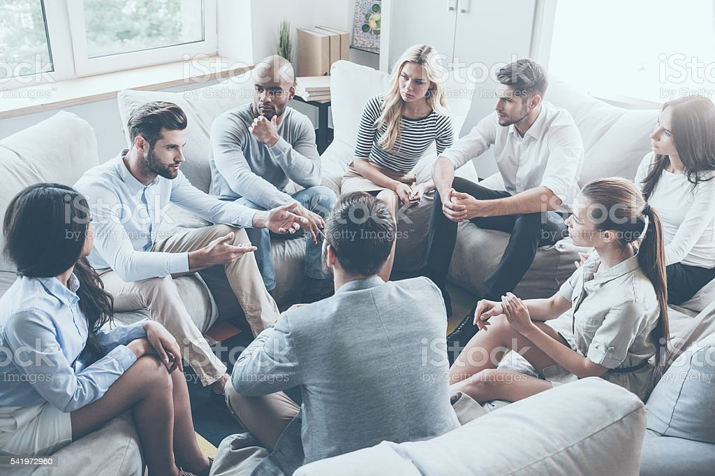 Group therapy. stock photo