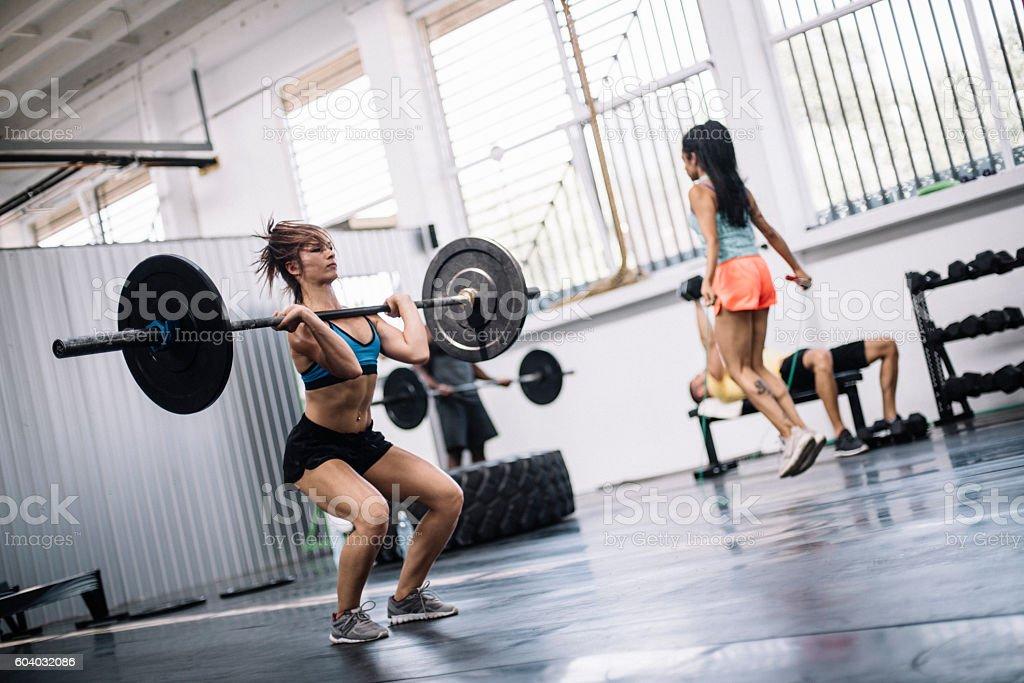 Group training stock photo