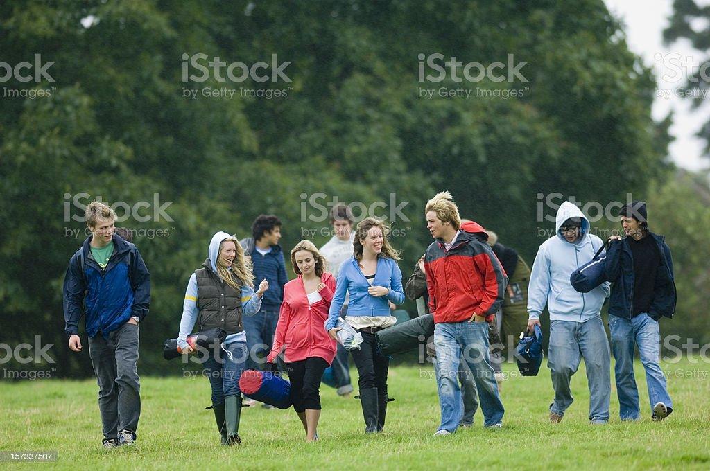 Group Walking royalty-free stock photo
