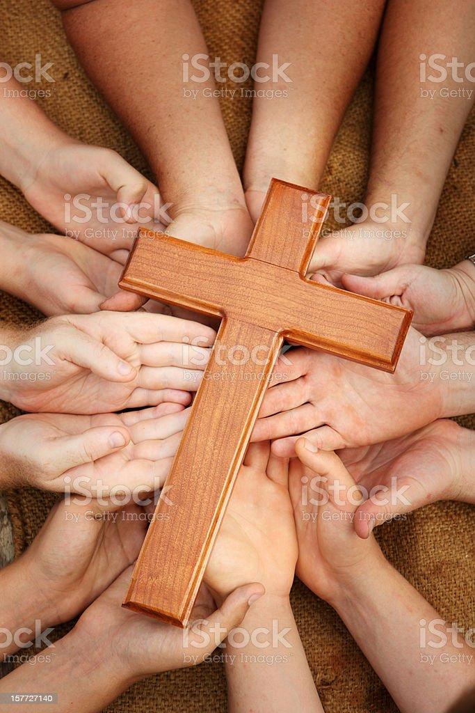 Group Worship stock photo