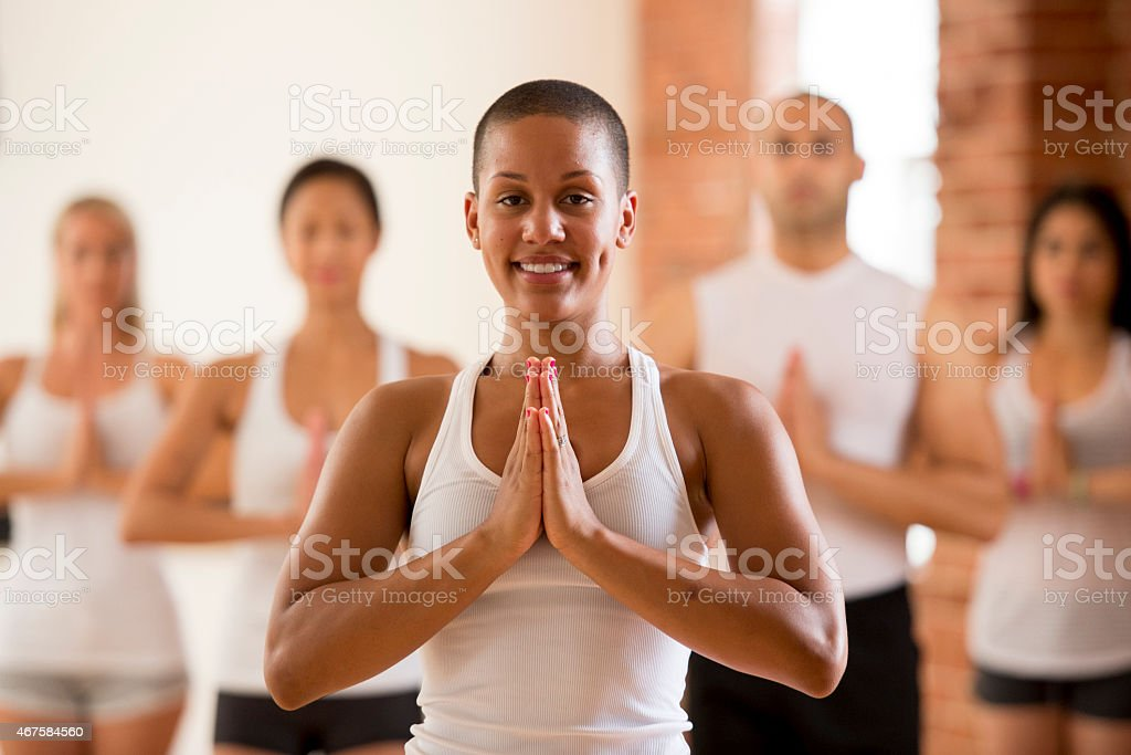 Group Yoga Class stock photo