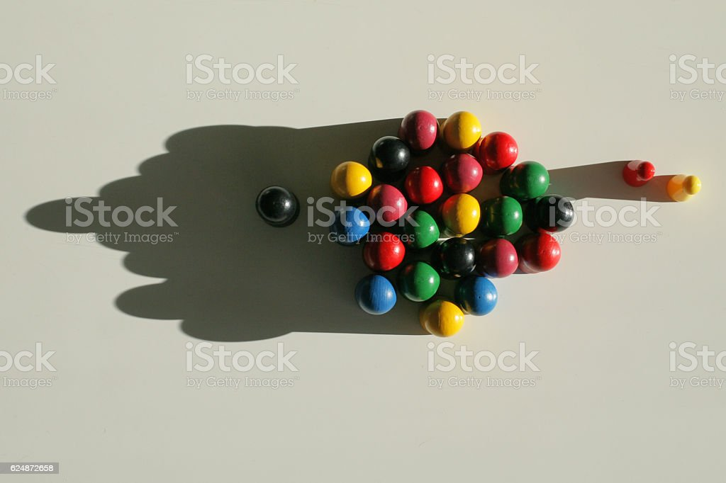 Grouped tokens with leader stock photo