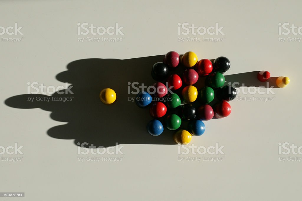 Grouped wooden pieces stock photo