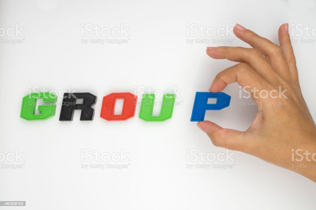 Group,Hand and word royalty-free stock photo