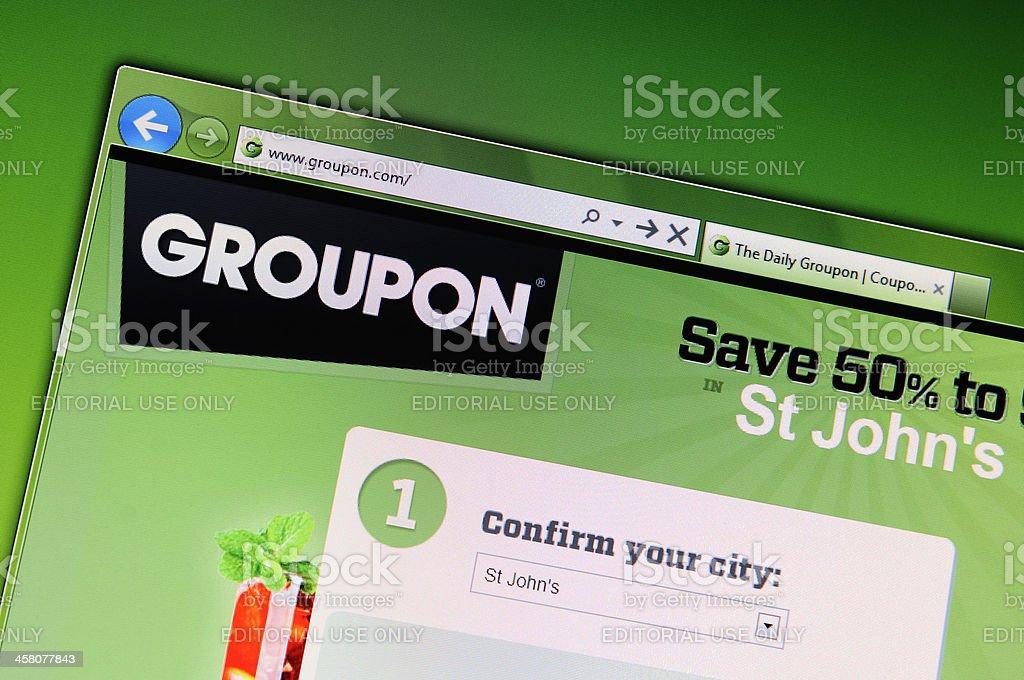 Groupon Website stock photo