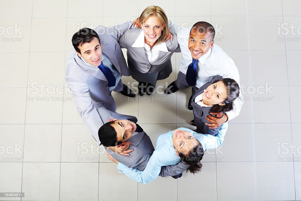 Groups of a business people are hugging royalty-free stock photo