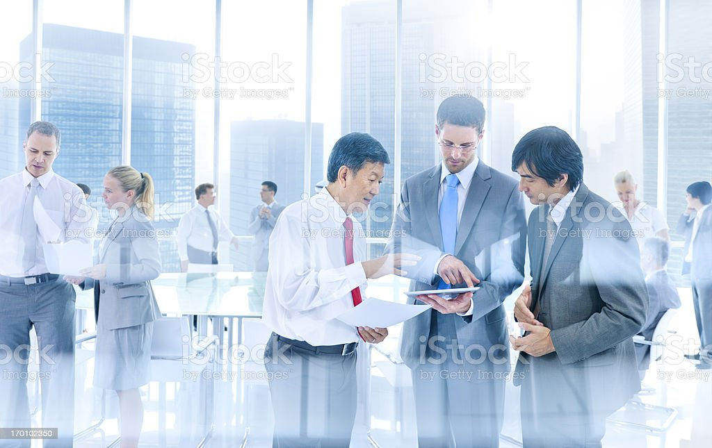 Business people working in office. stock photo